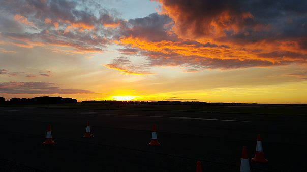Sunset, Airfield, Lincolnshire