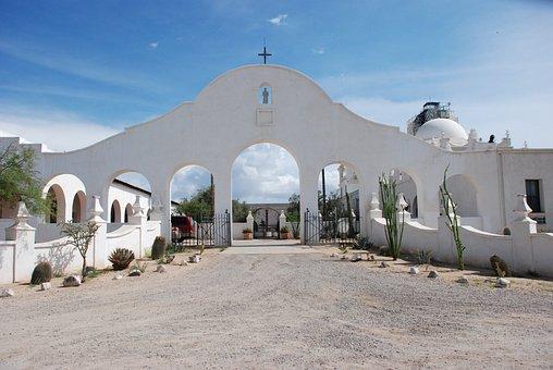 Mission, Gate, Architecture, Spanish, Church, Historic