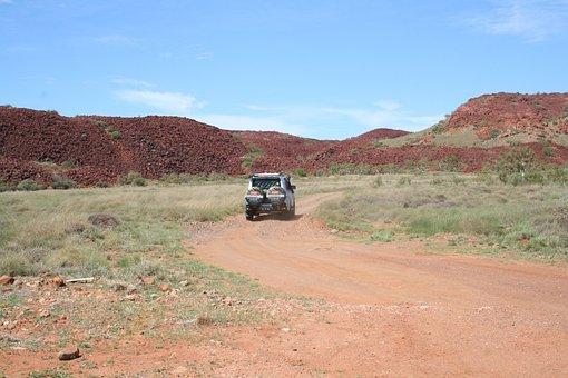 Pilbara, Outback, Road, Red, Sky, Desert, Karratha