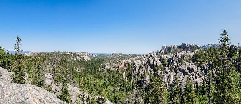 Custer State Park, Wyoming, Panorama, Granite, Wild