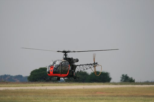 Alouette Ll Helicopter, Helicopter, Rotor, Airborne