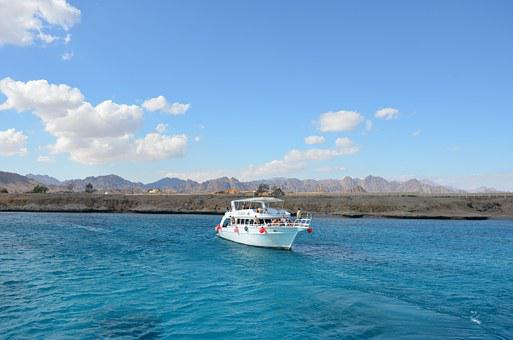 Ship, Sea, Red Sea, Water, Travel, Sinai, Nature, Blue