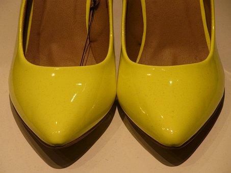 High Heels, Shoes, Shoe, Shine, Girl, Yellow