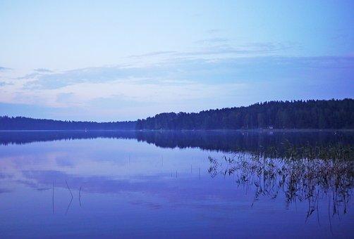 Lake, Landscape, Sunset, Nature, Bank, Water