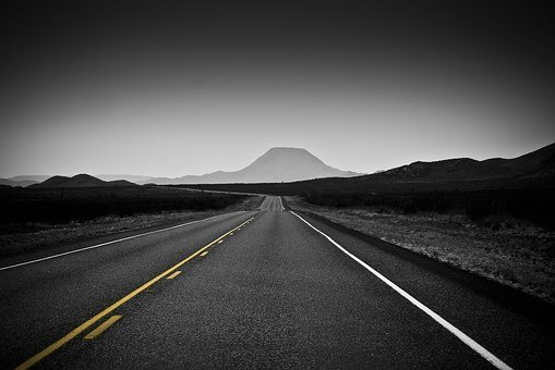 Black And White, Desert, Texas, Backroads
