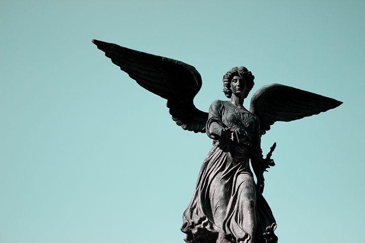 Sculpture, Angel, Tiffany Blue