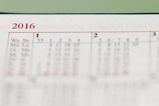 Calendar, Year, 2016, Months