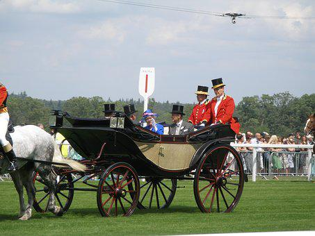 Ascot, Queen, Horse, England, Uk, Monarchy, Carriage
