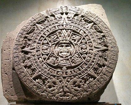 Aztec Calendar, Aztec, Museum, Mexico, Sculpture