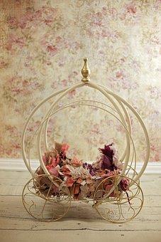 Carriage, Baby, Princess, Newborn, Digital Backdrop