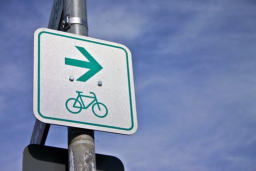 Cycle Path, Cycling, Bike, Traffic, Street Sign, Shield