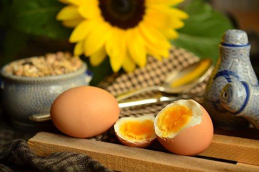 Egg, Yolk, Boiled Egg, Breakfast Egg, Breakfast, Yellow