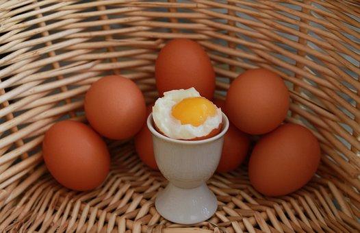 Eggs, Egg, Basket, Soft Boiled Egg, Boiled Egg