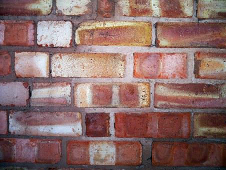 Brick Wall, Hard, Construction, Stone, Cement, Pattern