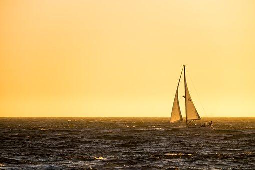 By Tech, Ocean, Sailing Boat, Sunset, Last Light