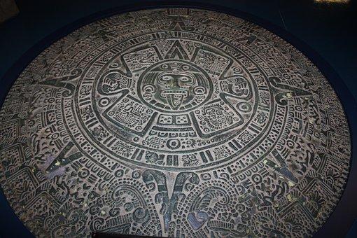 Astekskii Calendar, Asteki, Calendar, Museum