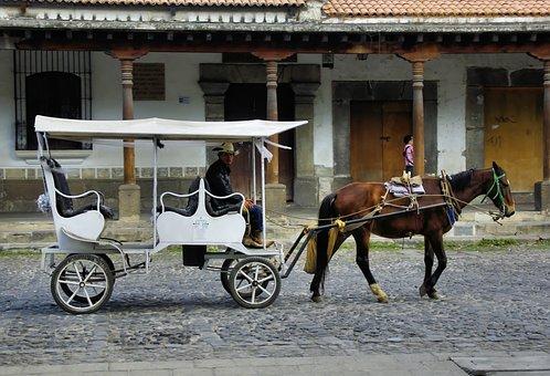 Mexico, Puebla, Carriage, Vehicle, Drawn, Horse, Cart