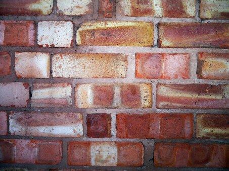 Brick Wall, Hard, Construction, Stone, Cement, Pattern