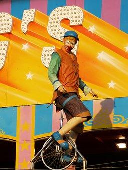 Fair, Attraction, Circus, Figure, Clown, Fairground