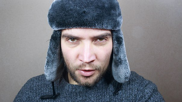 Winter, Cap, Cold, White, Man, Young, Background, Warm