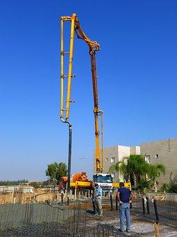 Construction, Concrete Pump, Concrete, Fill, Fittings