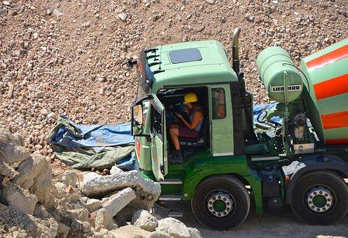 Lunch Break, Vehicle, Concrete Delivery, Site