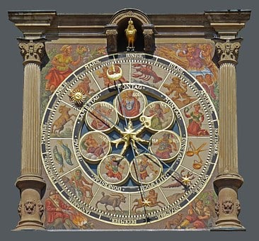 Town Hall Of Heilbronn, Detail, Architecture, Clock