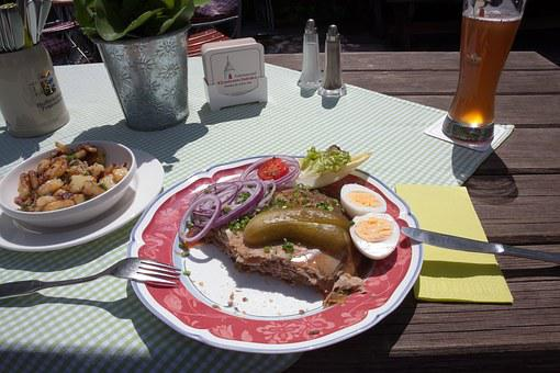 Eat, Beer Garden, Snack, Bavaria, Restaurant, Court