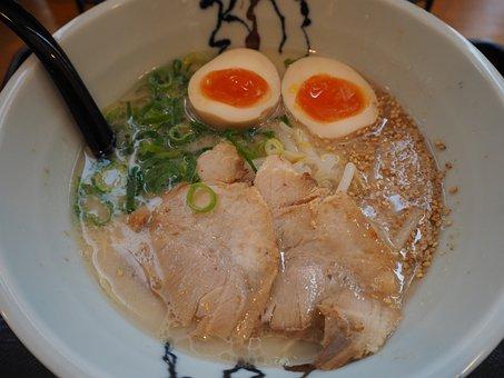 Ramen, Egg, Boiled Egg, Char Shu, Pig Bone, Green Onion