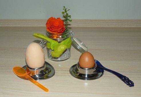 Egg, Breakfast Egg, Egg Cups, Boiled Egg, Big And Small