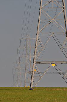 Electricity Pylon, Field, Electricity, Power, Pylon