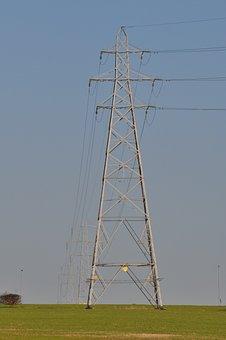 Electricity Pylon, Field, Electricity, Power, Pylon