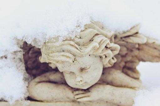 Angel, Fig, Ceramic, Art, Guardian Angel, Sculpture