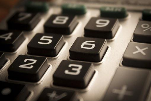 Calculator, Figures, Accounting, Dial