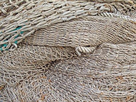 Web, Fishing Net, Fishing, Port, Coast, Safety Net