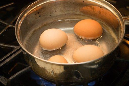 Eggs, Boiled Eggs, Breakfast, Food, Boiled, Cooked