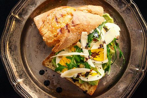 Sandwich, Egg, Boiled Egg, Food Photography