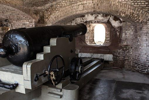 Cannon, Fort Sumter, South Carolina, Charleston, Fort