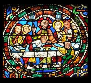 Stained Glass, The Last Supper, Glass, Color, Catholic