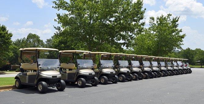Golf, Golf Cart, Course, Sport, Green, Club, Grass