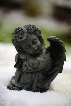 Angel, Fig, Guardian Angel, Sculpture, Faith, Statue
