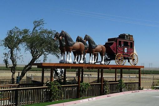 Horse Carriage, Model, Old, Wagon, Wheel, Vintage
