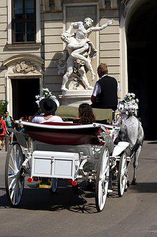 Vienna, Horse Drawn Carriage, Austria, Coach, Horses