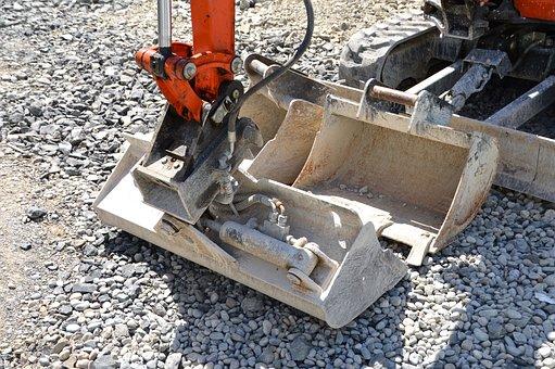 Backhoe Bucket, Site, Excavators, Blade, Kempten
