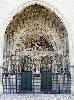 Berner Muenster, Main Portal, Input, Two, Gothic