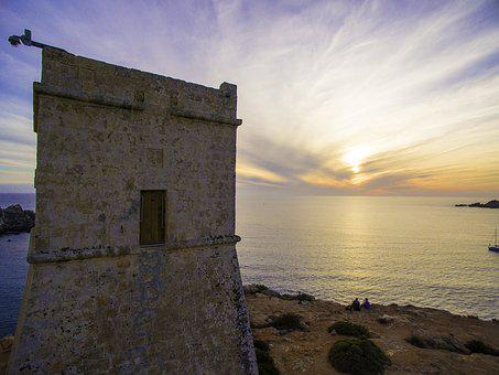 Ghajn Tuffieha, Malta Watch Tower, Coastal Tower