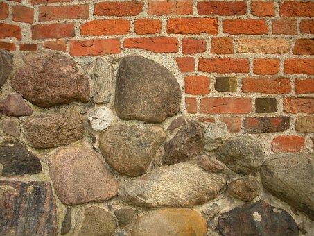Medieval Castle, Detail, Stone Foundation