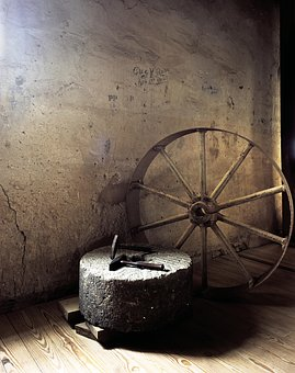 Wheel, Hammer, Millstone, Mill, Agriculture, Flour Mill