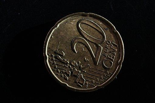Cent, 20, Euro, Money, Finance, Cash, Dollar, Business