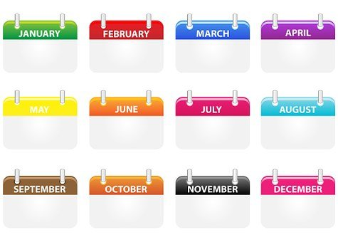 Calendar, Icons, Calendar Icons, Month, Months